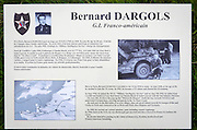 WWII memorial to G.I. Bernard Dargols on Omaha Beach, Normandy, France