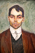 'Portrait of a Man' 1911 oil painting on canvas by Henrik Sorensen 1882-1962 , Kode 3 art gallery Bergen, Norway