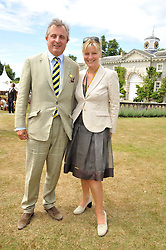 VISCOUNT ASTOR and his sister the COUNTESS OF MARCH at a luncheon hosted by Cartier for their sponsorship of the Style et Luxe part of the Goodwood Festival of Speed at Goodwood House, West Sussex on 5th July 2009.