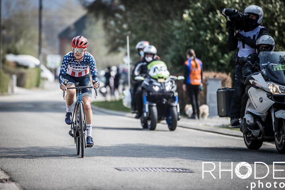 US National Champion Ruth Winder (USA/Trek-Segafredo)<br /> <br /> 24th la Flèche Wallonne Féminin 2021 (1.UWT)<br /> 1 Day Race: Huy – Huy 130,5km<br /> <br /> ©RhodePhoto