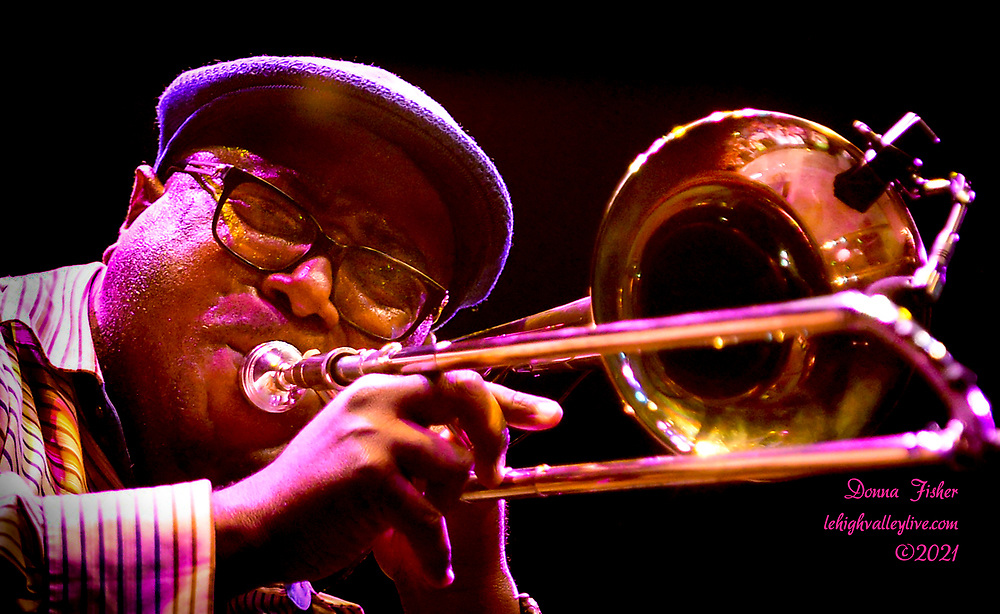 Preservation Hall Jazz Band show at Musikfest on August 7, 2021. Preservation Hall Jazz Band, Christine Havrilla and Hector Rosado perform at Wind Creek Steel Stage on August 7, 2021. Musikfest, a festival of ArtsQuest, is held August 6 –15, 2021 in Bethlehem, Pa..
