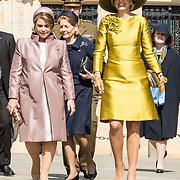 LUX/Luxemburg/20180523 - Staatsbezoek Luxemburg dag 1, Groothertogin Maria Teresa en  Koningin Maxima