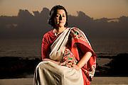 Naina Kidwai, CEO of HSBC, Mumbai, India.  Photographed at her home in Mumbai, India for Fortune Magazine.