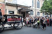SEBASTIAN'S MOTHER VALERIE WALMSLEY HUNTER, Sebastian Horsley funeral. St. James's church. St. James. London afterwards in the church garden. July 1 2010. -DO NOT ARCHIVE-© Copyright Photograph by Dafydd Jones. 248 Clapham Rd. London SW9 0PZ. Tel 0207 820 0771. www.dafjones.com.