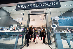 Edinburgh, Scotland, UK. 24 June 2021. First images of the new St James Quarter which opened this morning in Edinburgh. The large retail and residential complex replaced the St James Centre which occupied the site for many years Pic; Staff at Beaverbrooks celebrate the opening of their store. Iain Masterton/Alamy Live News