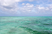Turquoise lagoon near Nacula Island. Nacula is part of the Yasawa Islands, on the western side of Fiji.