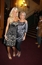 Left to right, EMMA B and Singer SARAH HARDING at the opening night of Cirque Du Soleil's 'Alegria' held at the Royal Albert, London on 5th January 2007.<br /><br />NON EXCLUSIVE - WORLD RIGHTS
