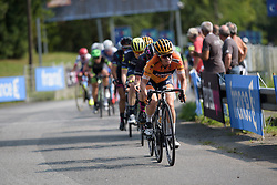 Karol-Ann Canuel attacks on the final loop at Grand Prix de Plouay Lorient Agglomération a 121.5 km road race in Plouay, France on August 26, 2017. (Photo by Sean Robinson/Velofocus)