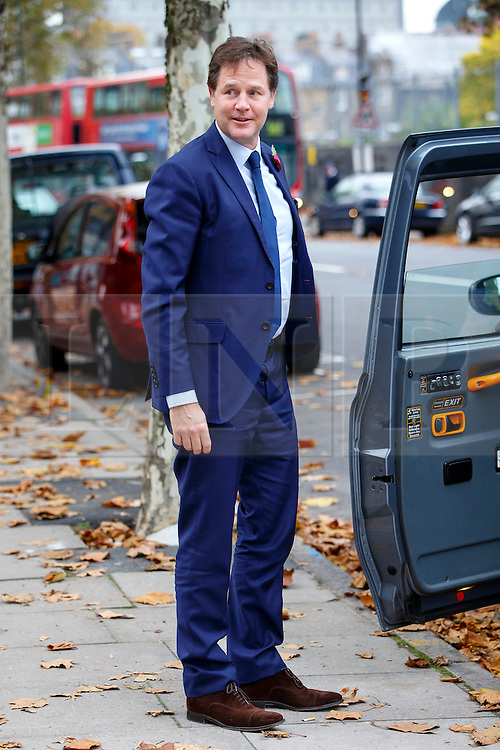 © Licensed to London News Pictures. 03/11/2015. London, UK. Nick Clegg attending a memorial service for ex-Liberal Democrat leader Charles Kennedy at St George's Cathedral in London on Tuesday, 3 November, 2015. Mr Kennedy died suddenly on June 1, 2015 at the age of 55 after suffering a major haemorrhage as a result of a long battle with alcoholism. Photo credit: Tolga Akmen/LNP