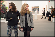 TANIA FARES; AVERY AGNELLI; Opening of Frieze art Fair. London. 14 October 2014