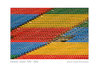 "10"" x 15"" Commemorative photograph showing red, yellow, blue, and green bleachers, east side stands, Taylor Field at Mosaic Stadium, Regina Saskatchewan, home of the Saskatchewan Roughriders, 1910 to 2016"
