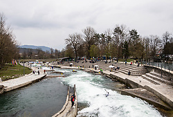 A general view during the Semifinal of European Open Canoe Slalom Cup on April 18, 2021 in Tacen, Ljubljana, Slovenia. Photo by Vid Ponikvar / Sportida