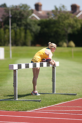 © Licensed to London News Pictures. 23/07/2012. Tonbridge, Kent. Sally Pearson, Australian Olympic 100m hurdles athlete trains at Tonbridge School, Tonbridge, Kent before competing on the London 2012 Olympic Games. Picture credit should read Manu Palomeque/LNP