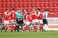 Goal disallowed Graham Salisbury controversially disallows late Rotherham goal during the EFL Sky Bet League 1 match between Rotherham United and Rochdale at the AESSEAL New York Stadium, Rotherham, England on 10 March 2018. Picture by Daniel Youngs.