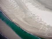 Nederland, Noord-Holland, Texel 07-05-2021; Noorderhaaks, onbewoonde zandplaat - eiland in wording, gelegen in het Marsdiep (tussen Den Helder en Texel). Rustende zeehonden.<br /> Noorderhaaks, uninhabited sandbank - island in the making, located in the Marsdiep (between Den Helder and Texel). Resting seals. luchtfoto (toeslag op standard tarieven);<br /> aerial photo (additional fee required)<br /> copyright © 2021 foto/photo Siebe Swart