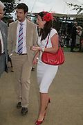 Davina McCall and her husband Matthew Robertson, Glorious Goodwood. 2 August 2007.  -DO NOT ARCHIVE-© Copyright Photograph by Dafydd Jones. 248 Clapham Rd. London SW9 0PZ. Tel 0207 820 0771. www.dafjones.com.