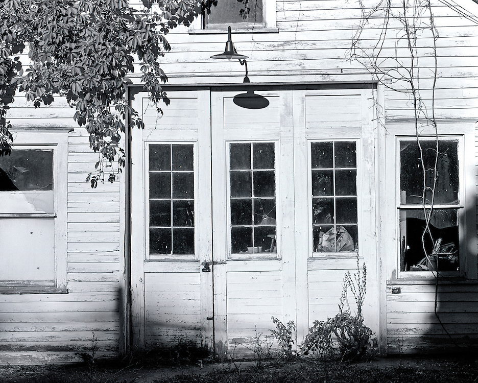 Klenke's Garage in Ellison Bay, Wisconsin.  Shot on 4 September, 2001.