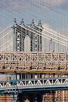 Brooklyn Bridge and Manhattan Bridge - New York October 2008