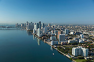 Aerial view of downtown Miami featuring the Edgewater district north.