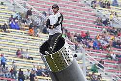 June 10, 2018 - Brooklyn, Michigan, U.S - DAVID SMITH JR. prepares to be shot out of a canon at Michigan International Speedway. (Credit Image: © Scott Mapes via ZUMA Wire)