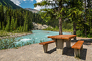 Kootenay River, at Numa Falls Picnic Area in Kootenay National Park, British Columbia, Canada.