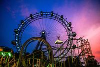 Riesenrad (Giant Ferris Wheel), Prater (Amusement Park), Vienna, Austria.