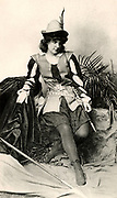 Ada Rehan (1860-1916) Irish-born American actress. Here in the breeches role of Rosalind in 'As You Like It' by William Shakespeare. Photogravure published London c1895.