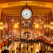 Interior of Union Station decorated for the Christmas season, 2012, downtown Kansas City, MO.