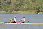 Banyoles, SPAIN,  GBR W2-,  Louisa REEVE and Olivvia WHITLAM,  Gold Medalist, Women's pair, at the FISA World Cup Rd 1. Lake Banyoles.  Sunday,  31/05/2009   [Mandatory Credit. Peter Spurrier/Intersport Images]
