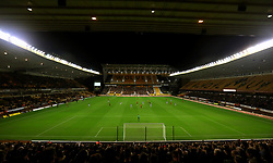 A general view of the action between Wolverhampton Wanderers and Bristol Rovers