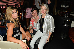 Left to right, ZOE HARDMAN, WILL BEST and PIPS TAYLOR at the STK Ibiza Pe-Launch Party held at STK London, 336-337 Strand, London on 21st June 2016.