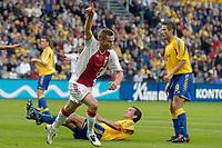 Fotball<br /> Nederland<br /> Foto: ProShots/Digitalsport<br /> NORWAY ONLY<br /> <br /> Brøndby IF - Ajax , 10-08-2005 , UEFA Champions League Qualification , Markus Rosenberg viert de 0-1