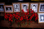 portraits of Maoists martyrs at a rally in Dolakha, Nepal