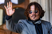 American actor and Hollywood star Johnny Depp arrived at the Royal Court of Justice in London on Tuesday, July 28, 2020. (VXP Photo/ Vudi Xhymshiti)