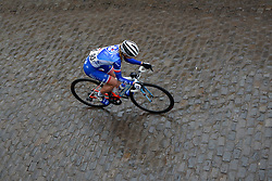 Victorie Guilman (FDJ) across the wet cobbles at the 112.8 km Le Samyn des Dames on March 1st 2017, from Quaregnon to Dour, Belgium. (Photo by Sean Robinson/Velofocus)