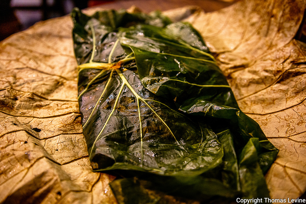 Oct. 2020, Hoi An: A special rice that originated from Hanoi and wrapped in a leaf