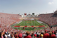 7 October 2006: Wide overview of sold out fans inside the stadium from the end zone looking east during NCAA College Football Pac-10 USC Trojans 26-6 win over the Washington Huskies at the LA Coliseum during a sunny saturday game in Los Angeles, CA.<br />
