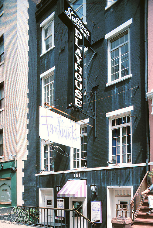 The Fantasticks playing at the Sullivan Street Playhouse in the 1990's, Greenwich Village, Manhattan, New York
