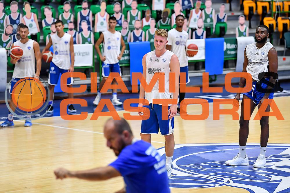 Kaspar Treier<br /> Allenamento Banco di Sardegna Dinamo Sassari<br /> LBA Legabasket Serie A 2021-2022<br /> Sassari, 12/08/2021<br /> Foto L.Canu / Ciamillo-Castoria