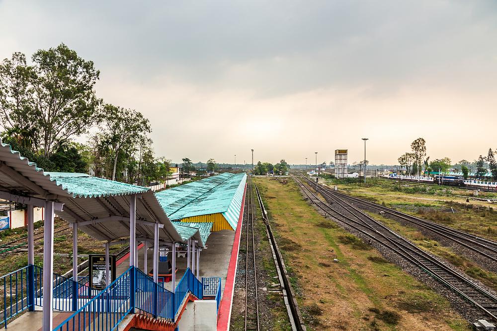 New Jaipalguri railway station in India.