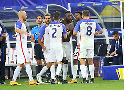 July 22, 2017 - Arlington, TX, USA - Arlington, TX - Saturday July 22, 2017: Jozy Altidore celebrates his goal during a 2017 Gold Cup Semifinal match between the men's national teams of the United States (USA) and Costa Rica (CRC) at AT&T stadium. (Credit Image: © Rick Yeatts/ISIPhotos via ZUMA Wire)
