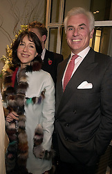 MR JOHN & the HON.MRS DANILOVICH, she is the daughter of Lord Forte, at a party in London on 1st November 2000.OIP 179