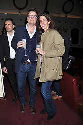 BARNABY THOMPSON and CHRISTINA ROBERT at the Grand Classics screening of American Pie in association with Grey Goose vodka celebrating 100 years of Universal Pictures' Greatest films held at the Electric Cinema, Portobello Road, London on 30th April 2012.
