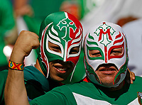 Photo: Glyn Thomas.<br />Mexico v Iran. Group D, FIFA World Cup 2006. 11/06/2006.<br /> Mexico fans celebrate their team's 3-1 victory over Iran.