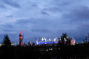 UK, August 6 2012: View of the Olympic Stadium and the Orbit in Olympic Park on Day 10 of the London 2012 Olympic Games. Copyright 2012 Peter Horrell.