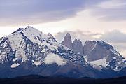 Granite spires , Torres del Paine National Park in Patagonia, Chile