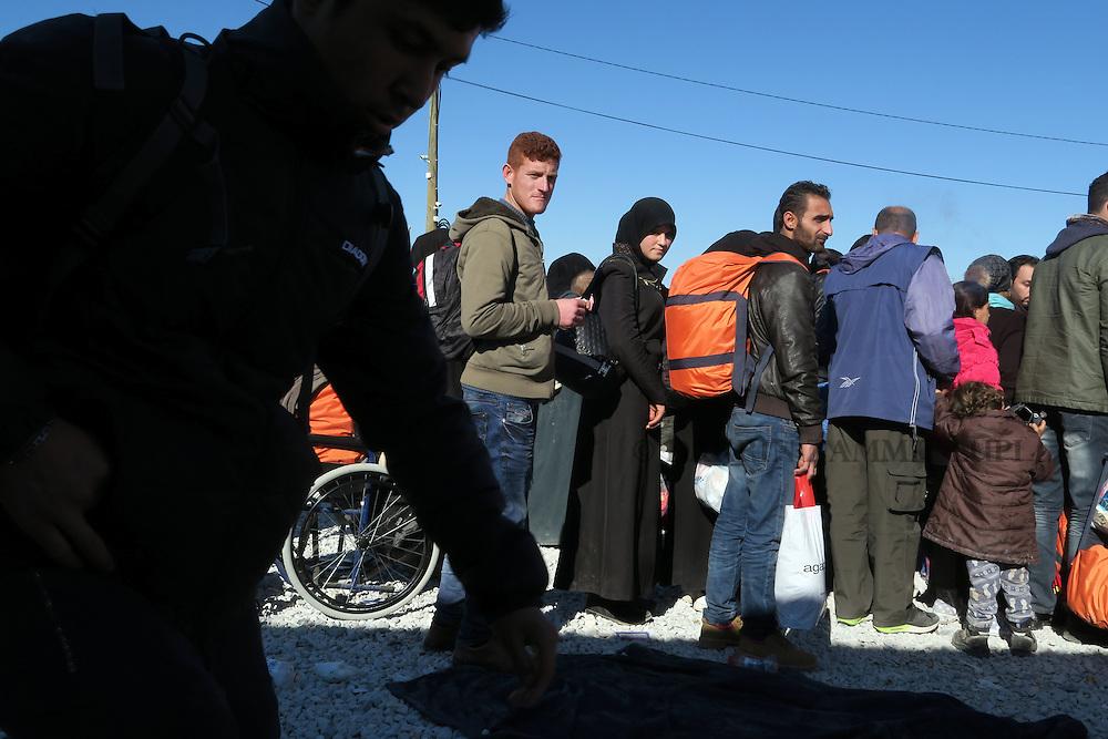Migrants and refugees in camp in Gevgelija, Macedonia.<br /> Photo: Darrin Zammit Lupi