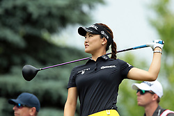 June 16, 2018 - Belmont, Michigan, United States - So Yeon Ryu of Korea tees off on the third tee during the third round of the Meijer LPGA Classic golf tournament at Blythefield Country Club in Belmont, MI, USA  Saturday, June 16, 2018. (Credit Image: © Jorge Lemus/NurPhoto via ZUMA Press)