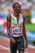 Nijel Amos of Botswana after winning the Men's 800m during the Muller Anniversary Games at the London Stadium, London, England on 9 July 2017. Photo by Martin Cole.