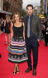 Jamie and Louise Redknapp attending The Bad Education Movie World Premiere, held at Vue West End, Cranbourn Street, London. PRESS ASSOCIATION Photo. Picture date: Thursday August 20, 2015. Photo credit should read: Daniel Leal-Olivas/PA Wire